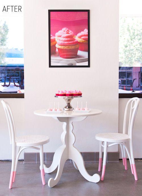 tres mignon! (le blanc et rose DIY chaise)