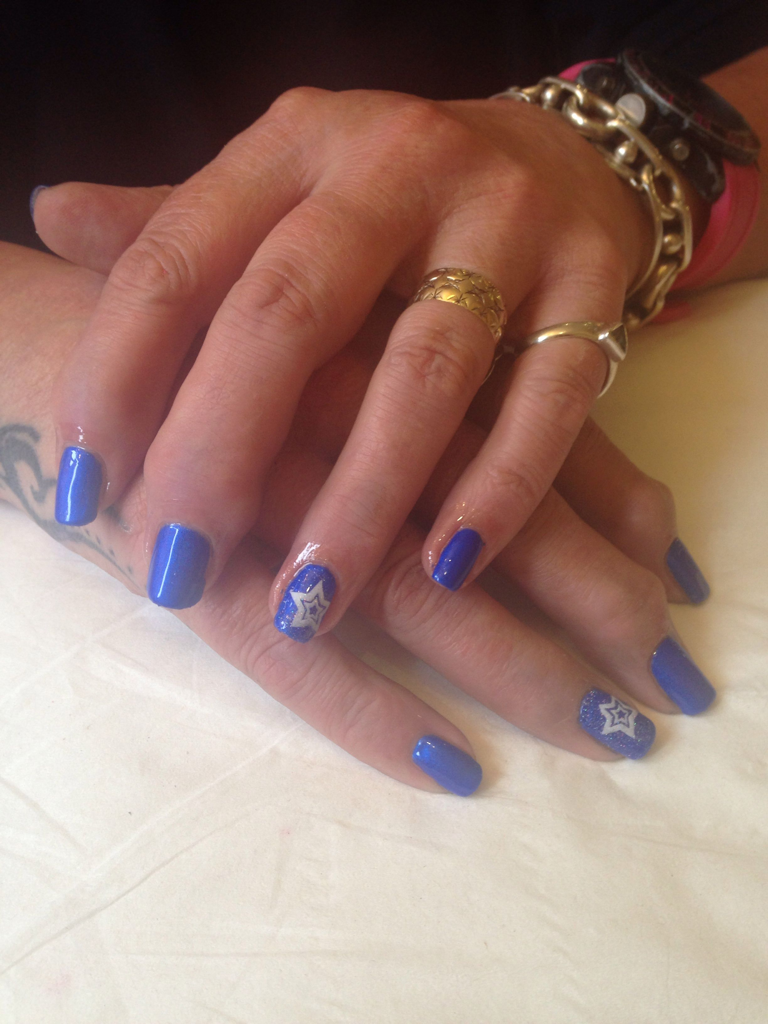 Royal blue with star detail