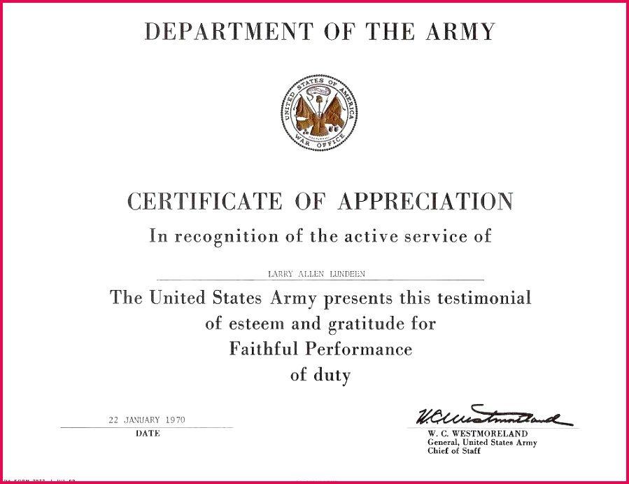 Best Army Certificate Of Appreciation Template In 2021 Certificate Of Appreciation Appreciation Professional Presentation Templates