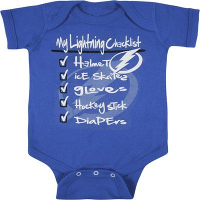 new arrival b0f5a d80b1 Old Time Hockey Tampa Bay Lightning Infant Royal Blue Galore ...