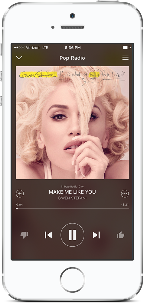 Download free music app on your IPhone and you can also