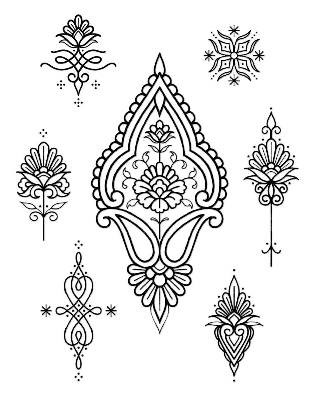 Nouveaux Flashs Disponibles Places Disponibles En Aout Intricate Tattoo Pattern Tattoo Mandala Tattoo Design