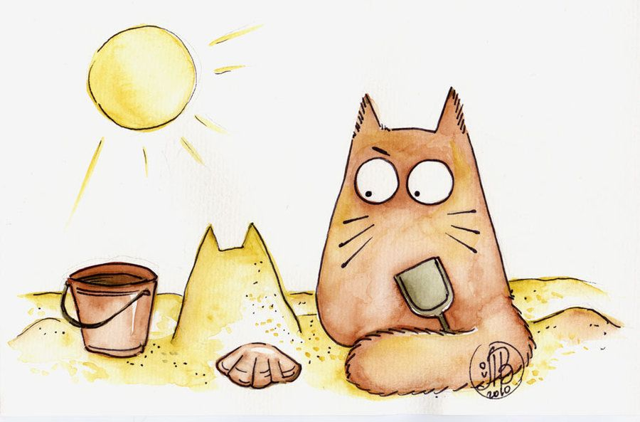 Картинки смешные прикольные мультяшные про котиков