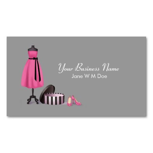 Couture fashion business card business cards for Fashion business card template