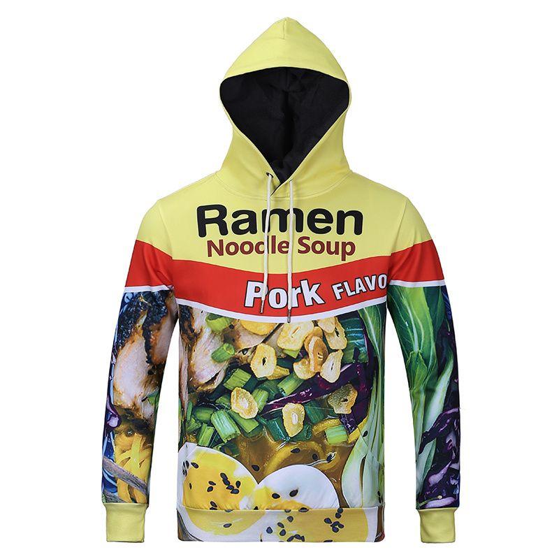 2016 Autumn Latest Styles 3d Hoodies Ramen Noodle Soup Hd Print