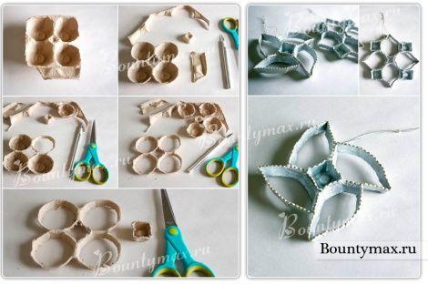 Елочные игрушки из подручных материалов своими руками