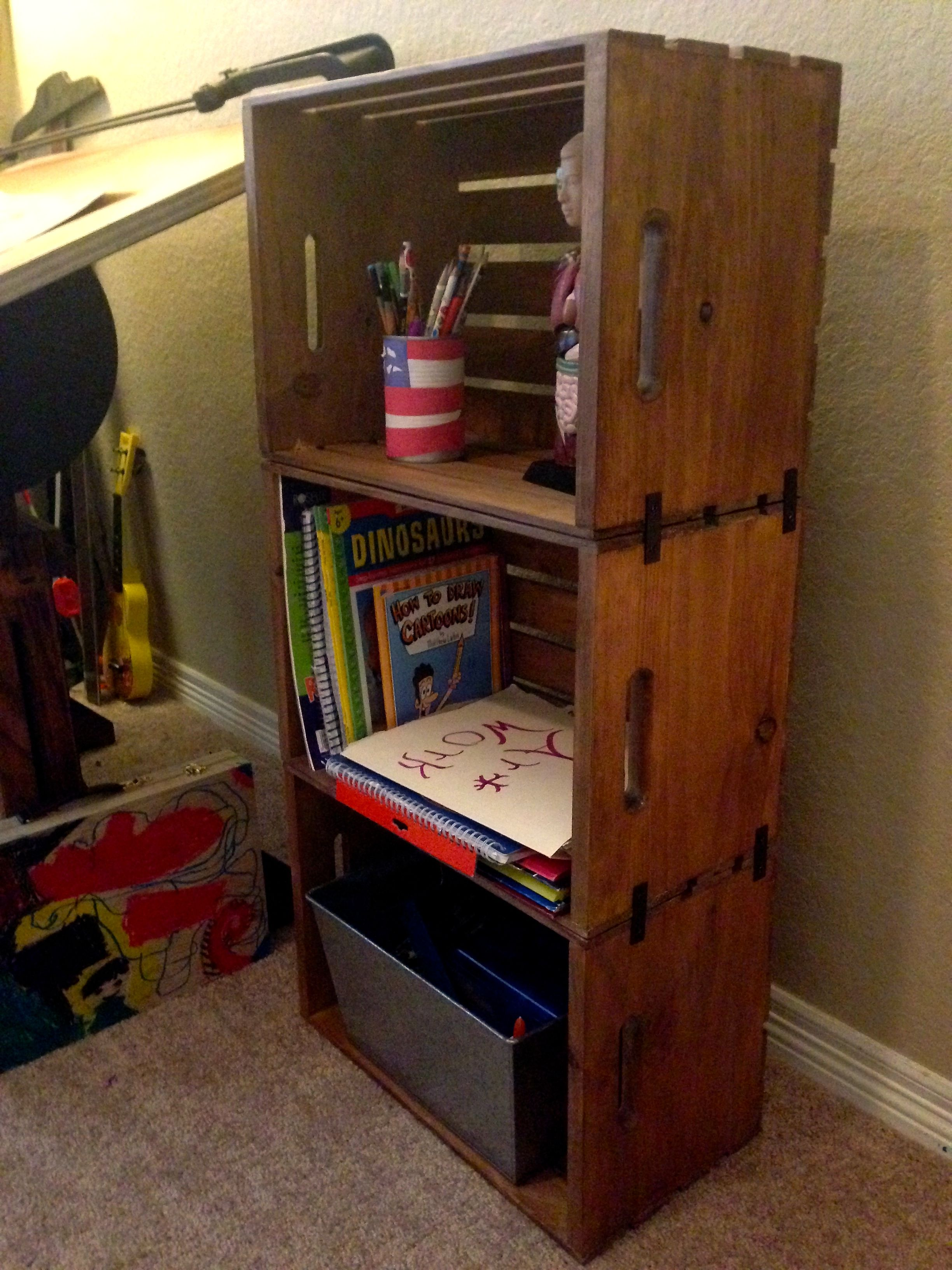 DIY Wooden Crate Bookshelf | Project ideas | Pinterest | Hogar