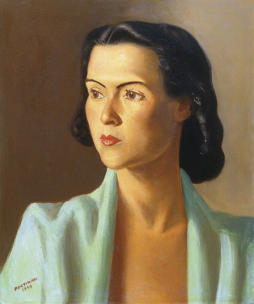 Portrait of a Woman, 1948  by Candido Portinari (Brazilian 1903-1962)