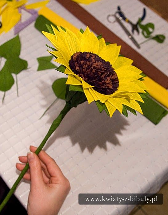 Sunflower Bouquet Of Flowers From Crepe Paper Paper Sunflowers