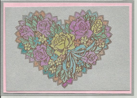 Happy Heart Note Card by inkieannie on Etsy