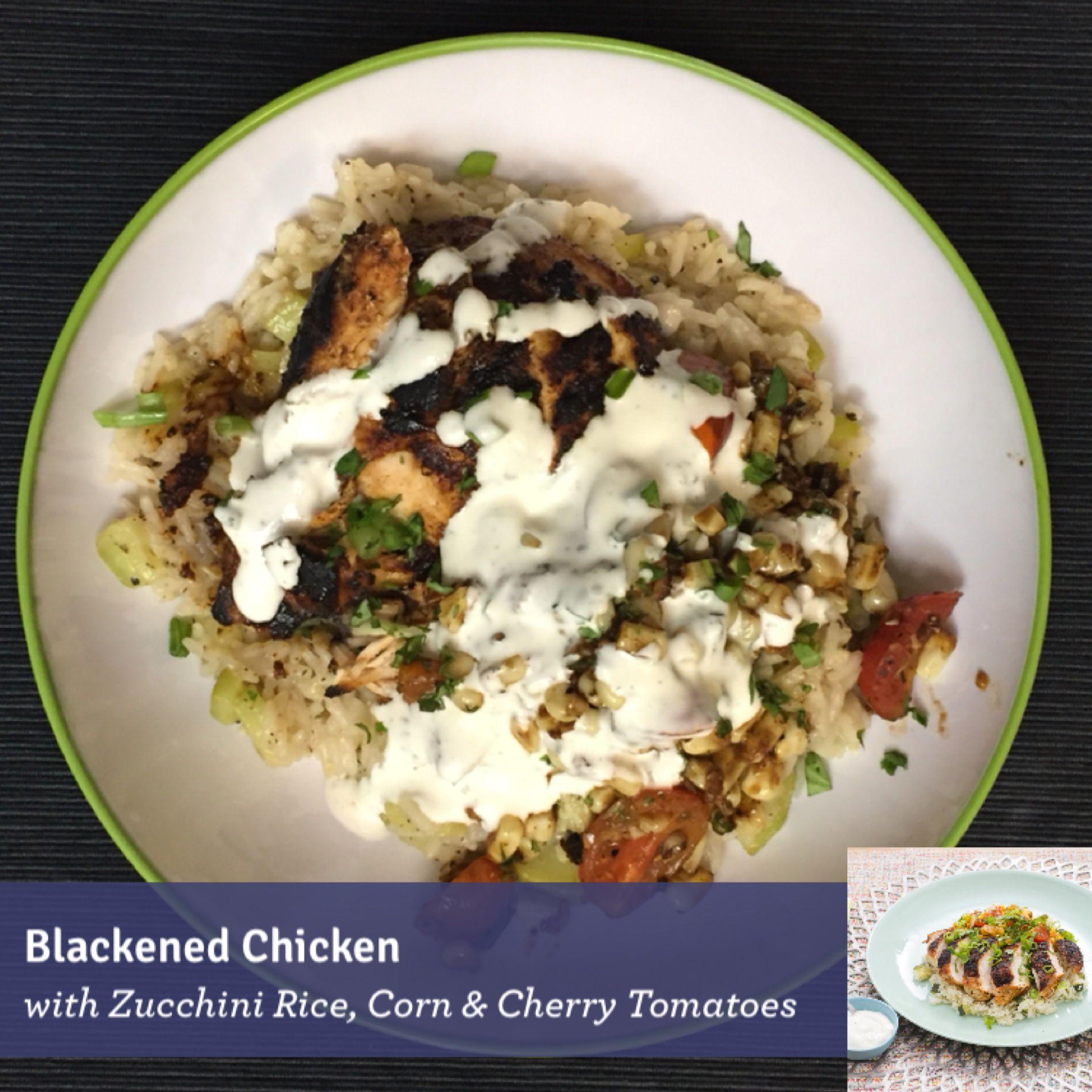 Blue apron zucchini rice - Blackened Chicken With Zucchini Rice Corn Cherry Tomatoes Blueapron