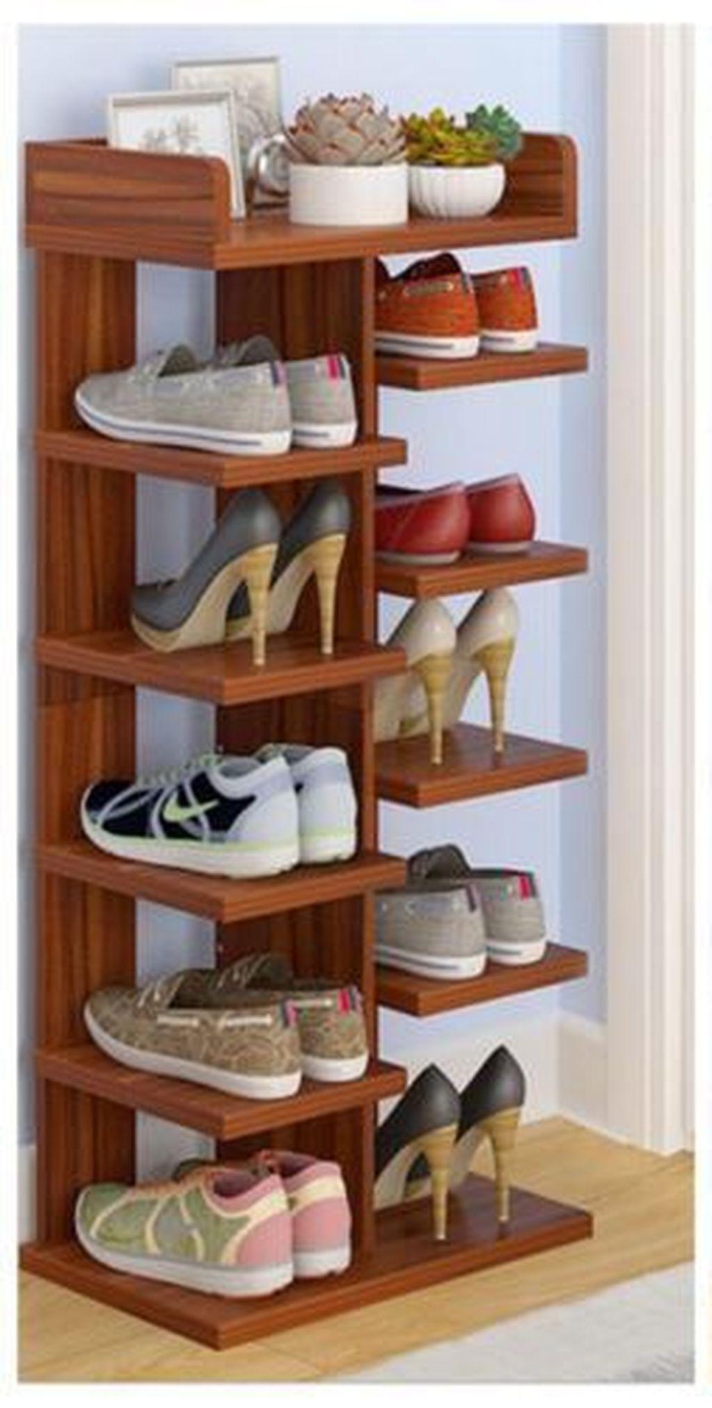 36 Delightful Diy Shoe Rack Design Ideas To Keep Your Shoes Nicely En 2020 Idees Etageres Mobilier De Salon Meuble Mural