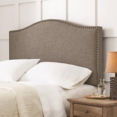 Better Homes And Gardens Grayson Linen Headboard With Nailheads Full Queen Gray By