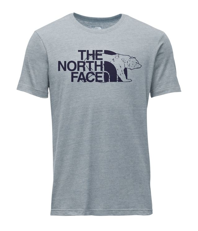 109ef587 Men's The North Face | Mascot Tri-Blend Tee | Dusty Blue Heather ...