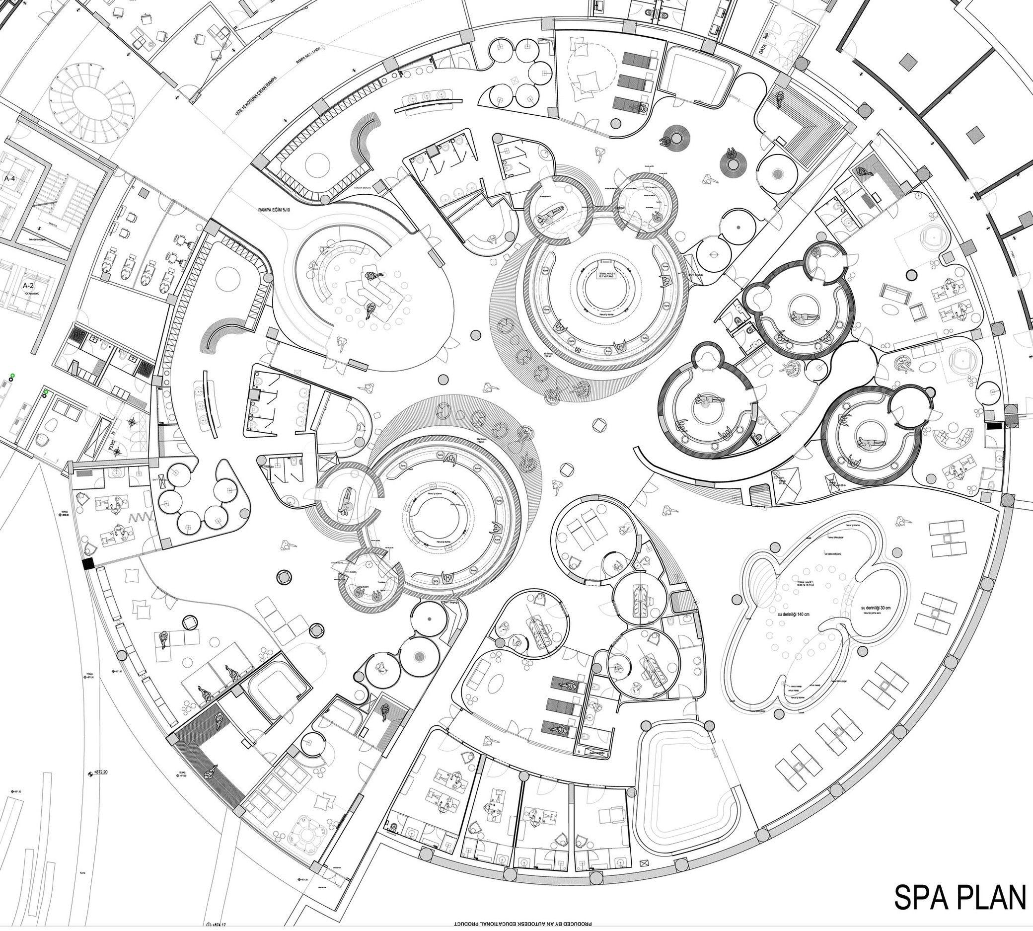 Eskisehir Hotel And Spa Thermal Hotel Hotel Floor Plan Hotel Plan