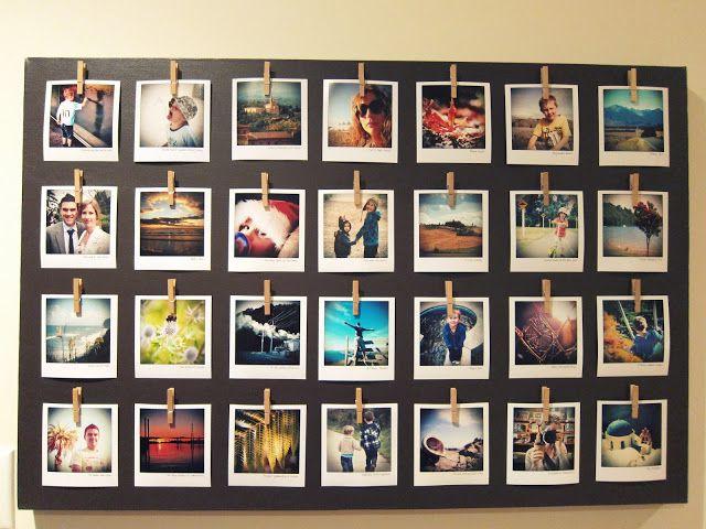 How to make a canvas photoboard with polaroid photos photos collage bilder fotos deko - Fotoleinwand collage gestalten ...