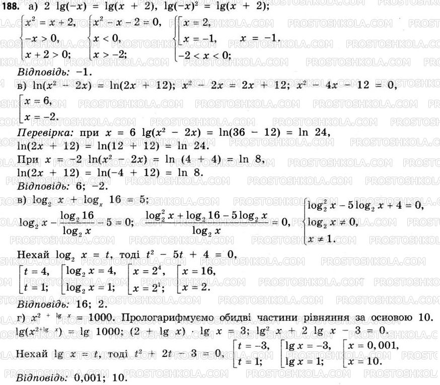 Гдз самостоятельная работа 1 11 класс математика бевз