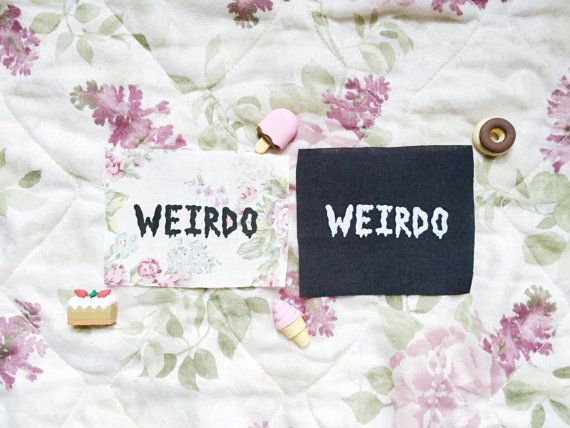Weirdo- Handmade Feminist Sew-on Patches