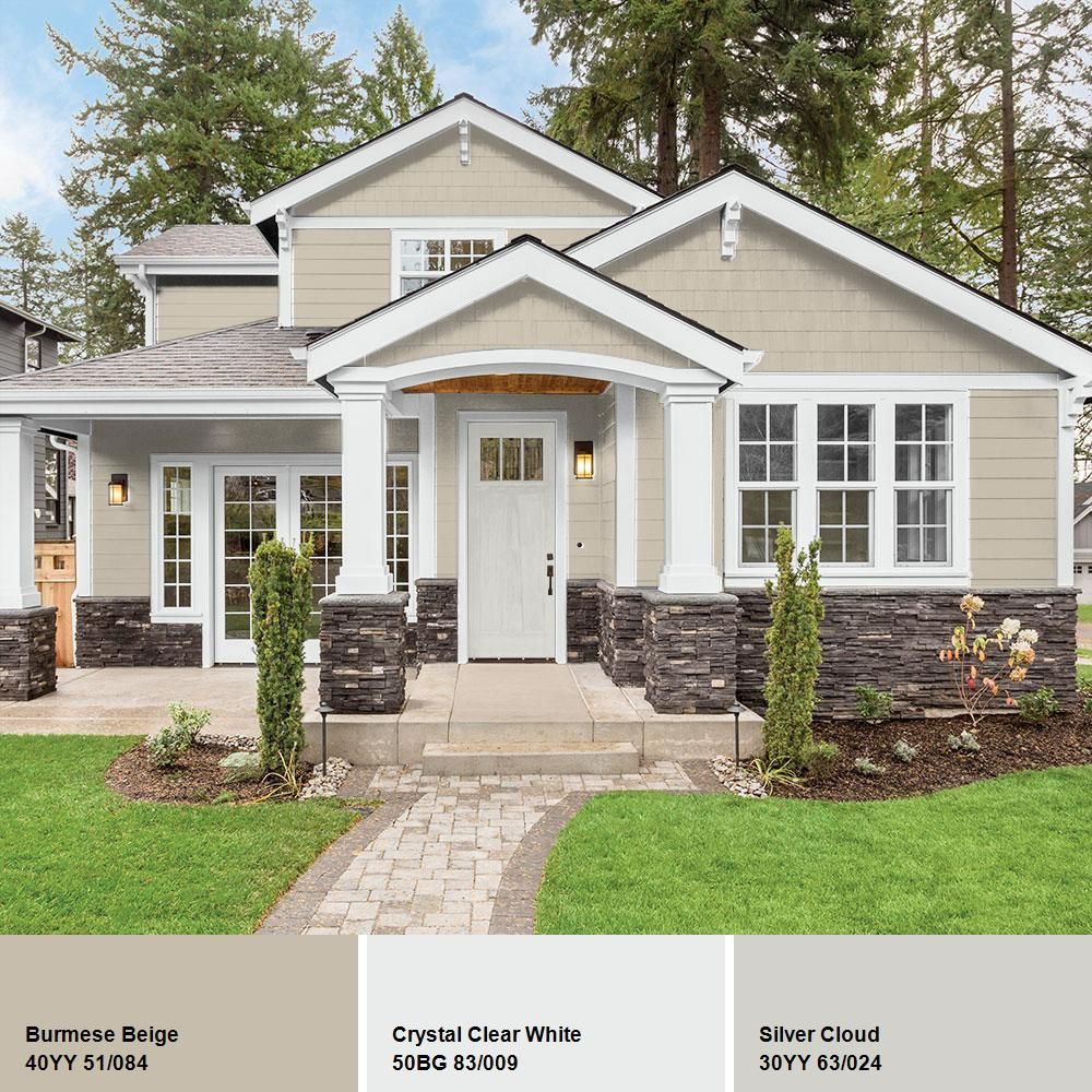 Exterior Paint Colors For Homes: PPG TIMELESS 1 Gal. #HDPPGWN27U Burmese Beige Satin