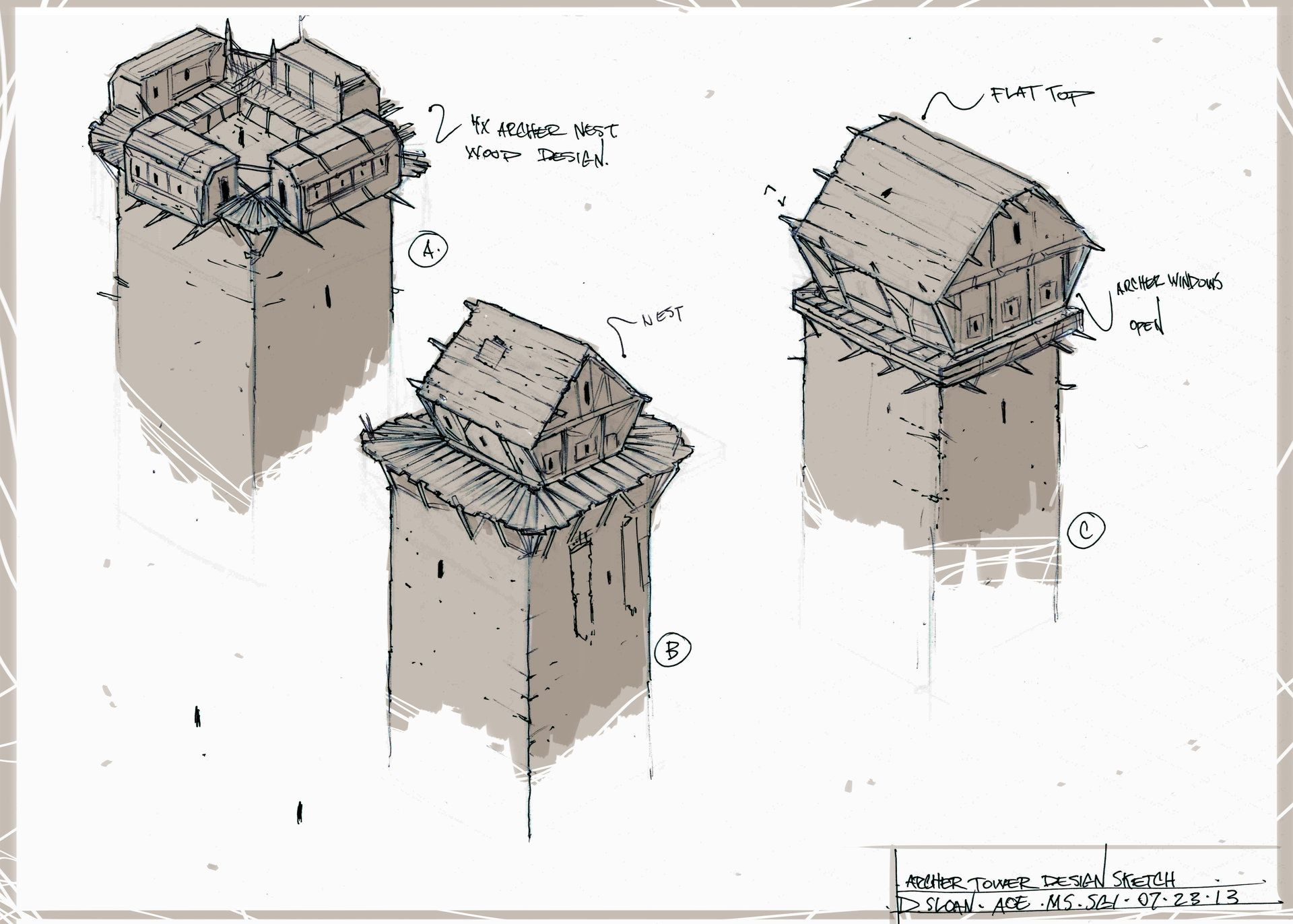 Artstation Early Age Of Empires Castle Siege Concept Sketches