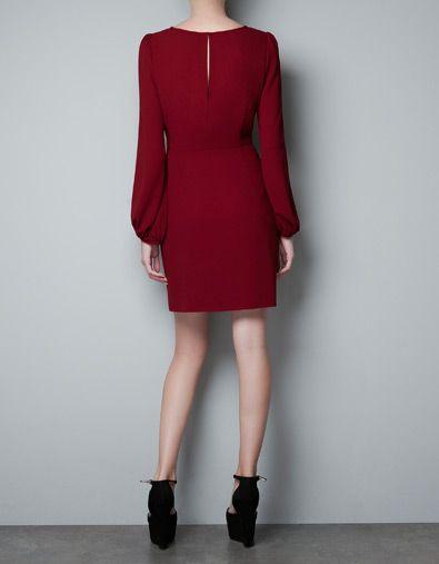 9399d17fa0 PUFF SLEEVE DRESS - Woman - New this week - ZARA Romania   Wishlist ...
