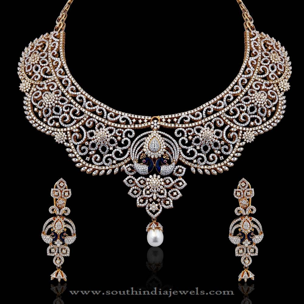 necklace polki hiya diamond and indian pin