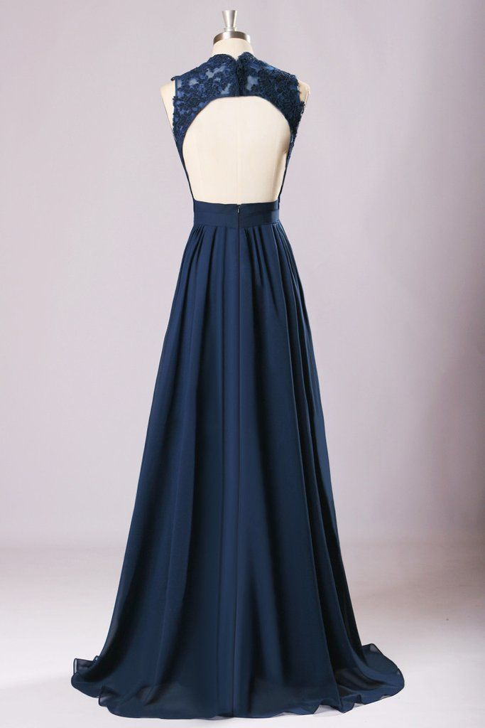 New Long Bridesmaid Dresses Navy Blue Chiffon Wedding Party Gown Off Shoulder Maid Of Honor Prom 220062