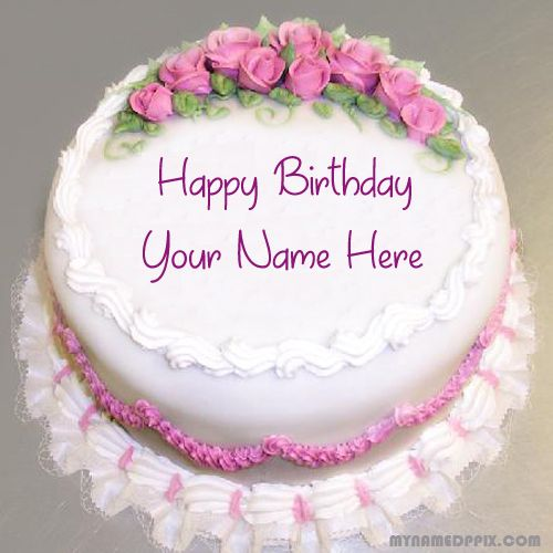 Specially Name Writing Birthday Cake Image Online Write Your HBD Photo Editing Boy Or Girl Roses Flowers Decoration