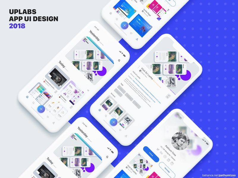 Download free UI design Uplabs App UI Design | UI Store