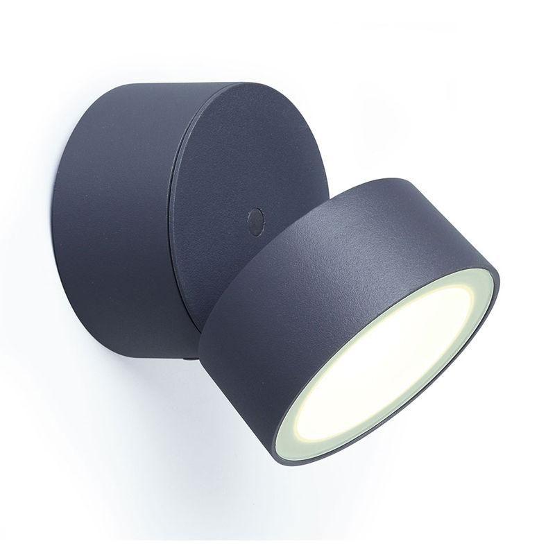 Kali Outdoor Led Wall Spot Light 11w 840lm Ip54 4000k Dark Grey Crompt 99 00 From 118 95 Led Wall Lights Wall Lights Exterior Wall Light