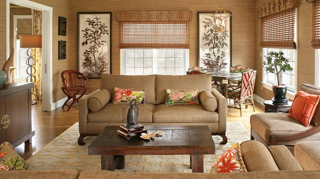 Contemporary Japanese Living Room Interior Design with ...