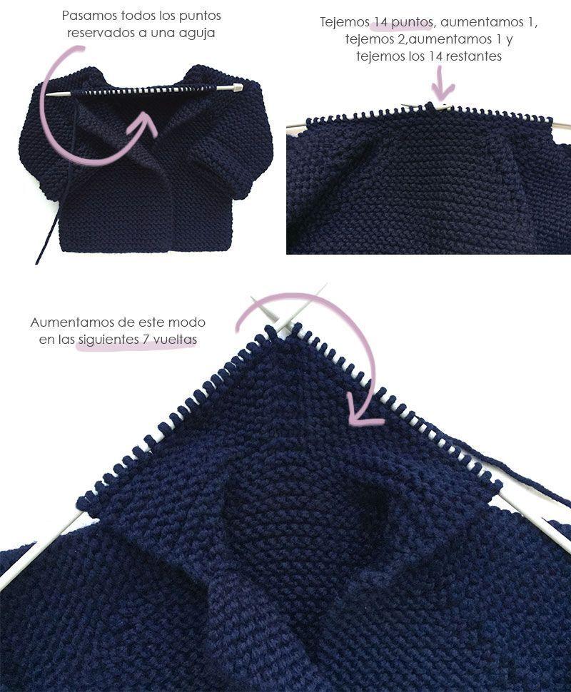 Abrigo de punto de bebé - DIY | Háčkované vzory | Pinterest | Patrón ...