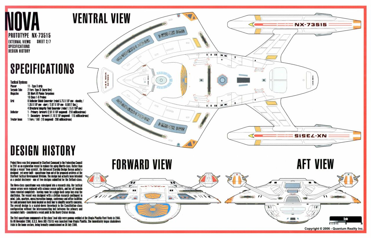 Nova class schematics and deck plans via quantum reality star star trek starfleet starship pictures and gifs sciox Image collections