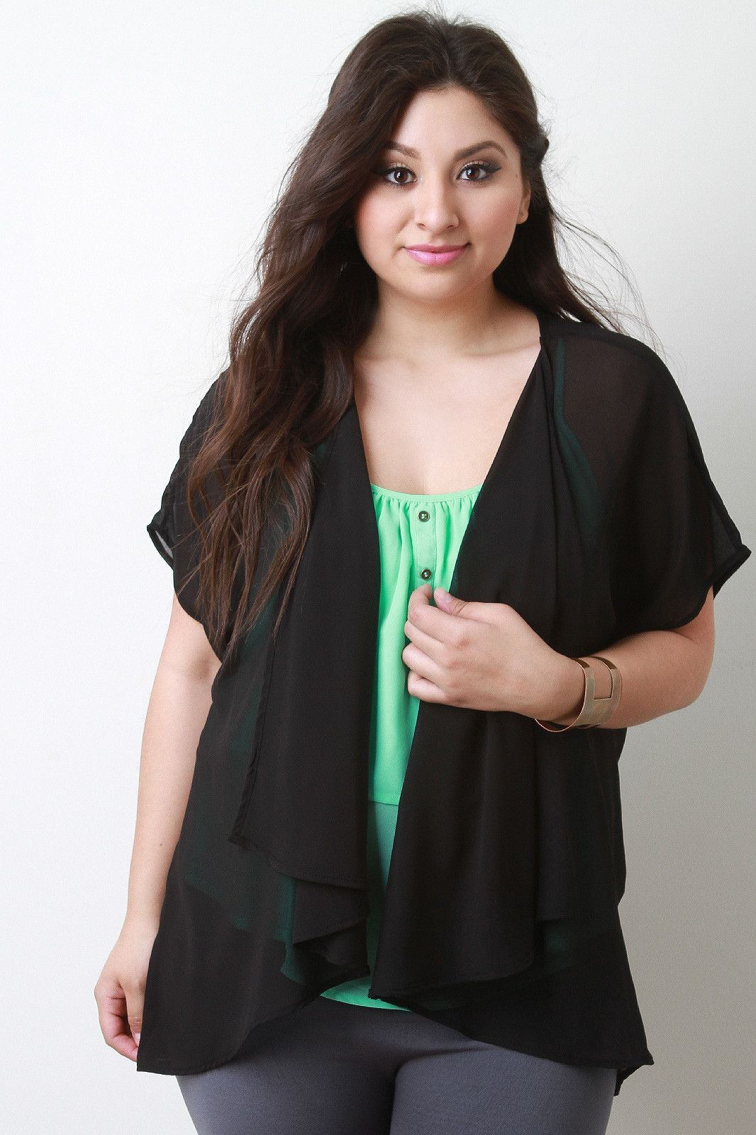 Draping High Low Semi-Sheer Cardigan | Plus Size and Trendy ...