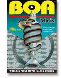 "Malin\'s revolutionary ""BOA"" No-Kink Titanium shock leader wire is ..."