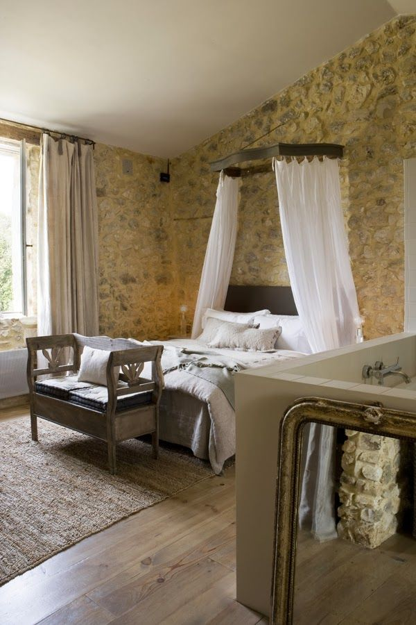 Rustic Elegant Bedroom Furniture stone home in provence / 2 | my dream someday | pinterest | provence