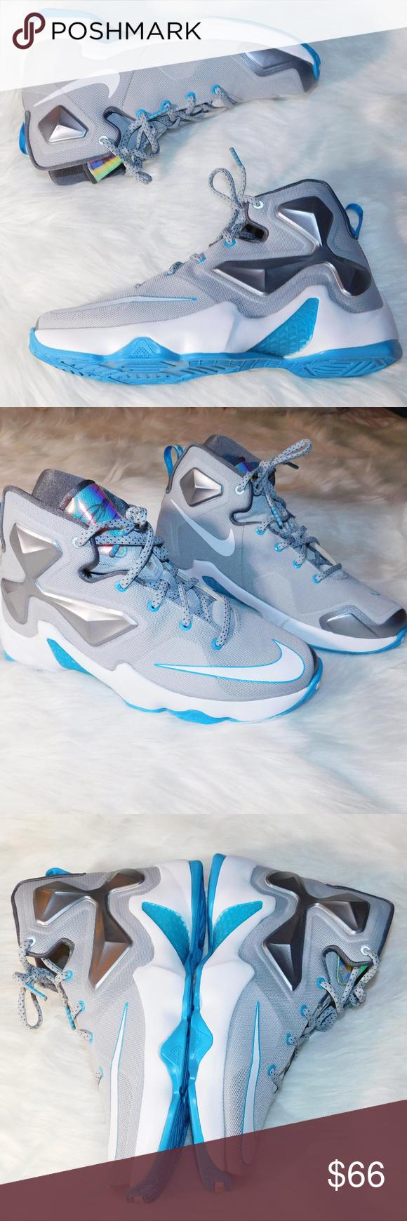 e6d18d4f25b1f NEW Nike Lebron Gray Blue High top Sneakers Size 7 NEW LEBRON JAMES XIII 13  -