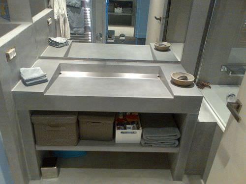Meuble vasque contemporain / en béton / à poser Béton Lège® Concrete