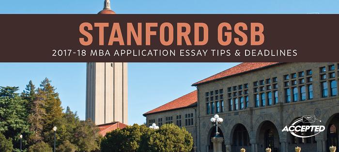 Stanford Gsb Mba Essay Tip Deadline Sample For