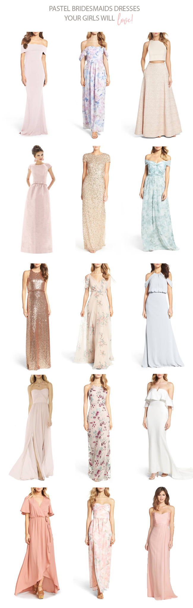 Wear your wedding dress on your anniversary  Nordstrom Anniversary Sale  Pastel bridesmaids Nordstrom