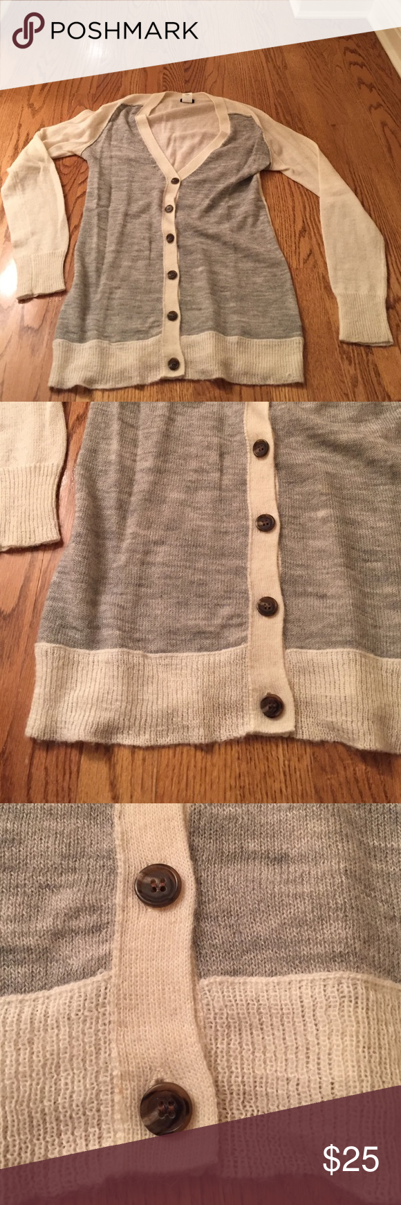 J. Crew Sweater Good condition two-toned sweater J. Crew Sweaters Cardigans