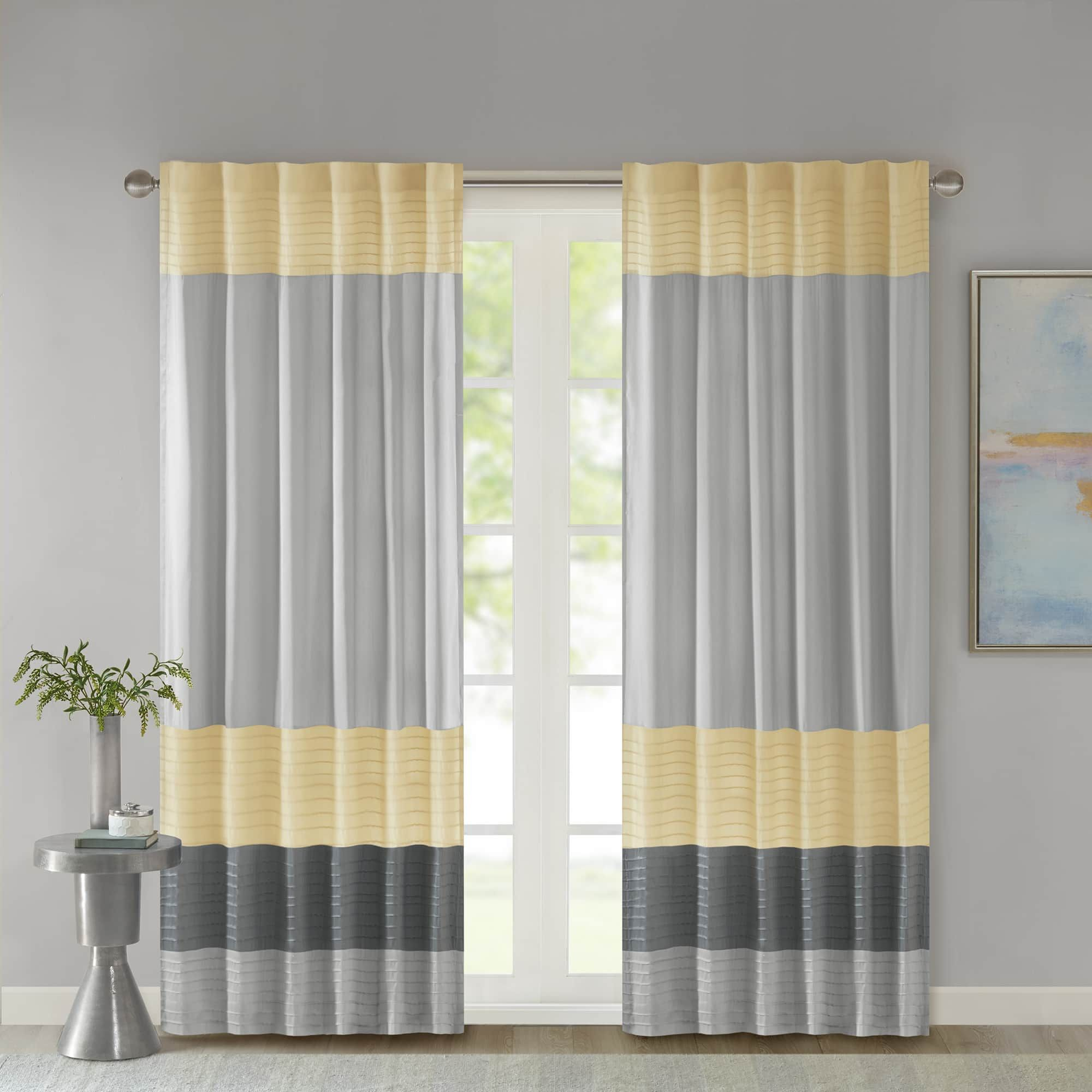 Madison Park Infinity Polyoni Pintuck Single Window Curtain Panel Curtains Panel Curtains Drapes Curtains