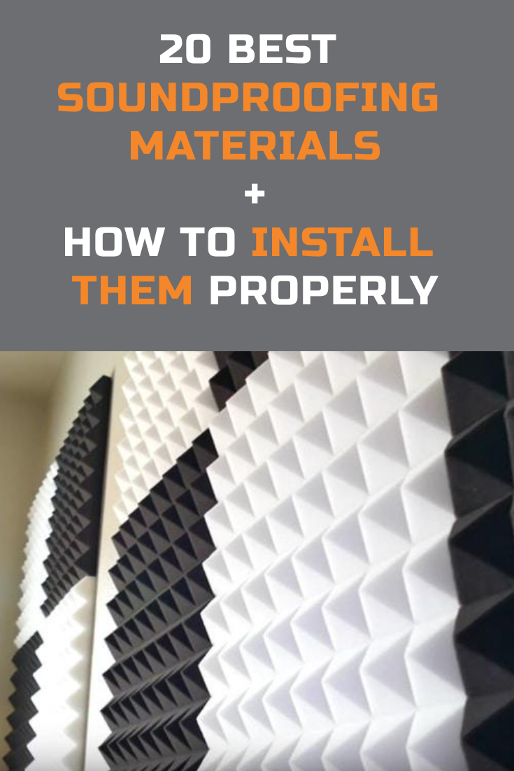 These Are The Top 20 Soundproofing Materials For Different Projects Such As House Insulation Car Sound Dea In 2020 Soundproofing Material Sound Proofing Sound Room