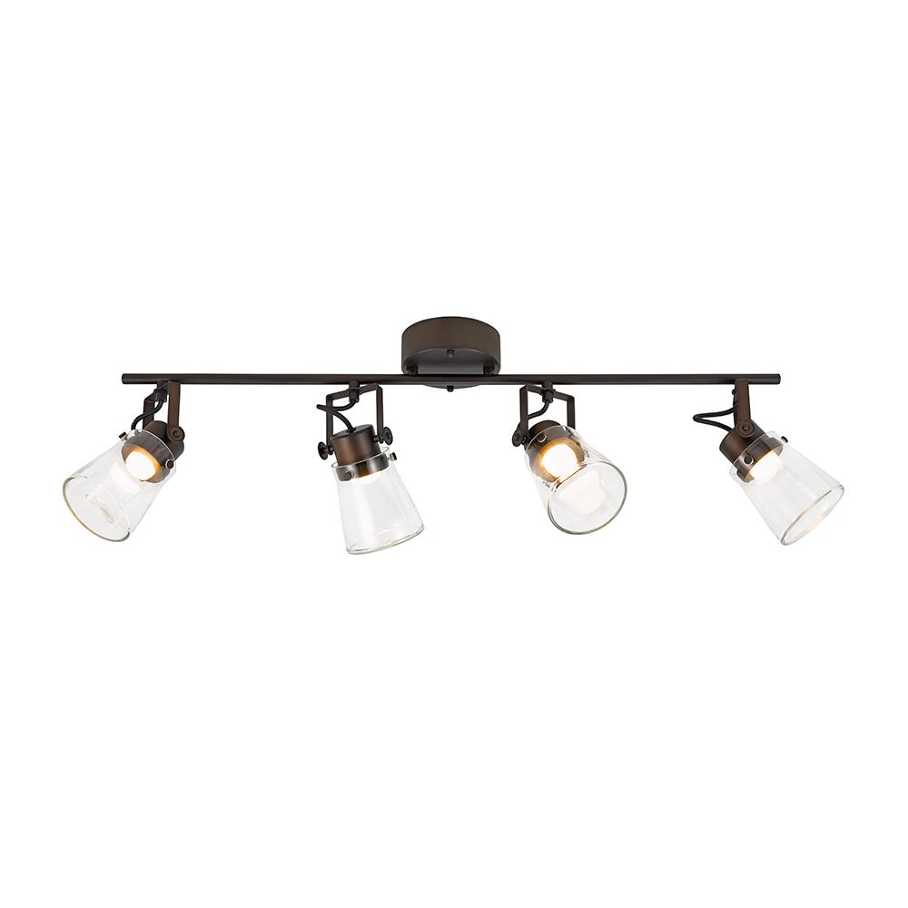 Alsy 2.5 ft. 4 Light Oil Rubbed Bronze Integrated LED Track