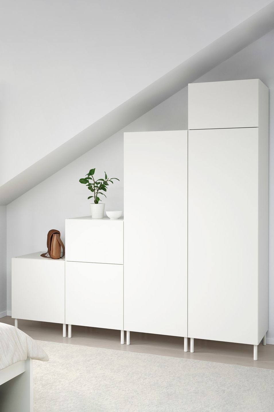 Wardrobe Under Sloping Ceilings With Platsa System In 2020 Mit