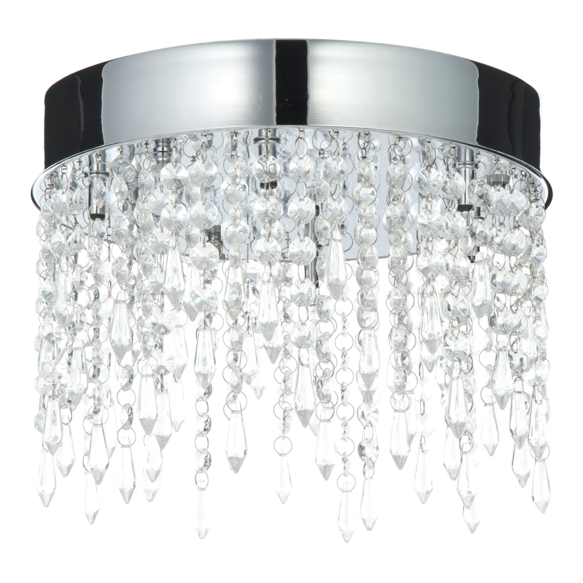 Sabine crystal droplets clear 6 lamp flush ceiling light ceiling sabine crystal droplets clear 6 lamp flush ceiling light mozeypictures Image collections