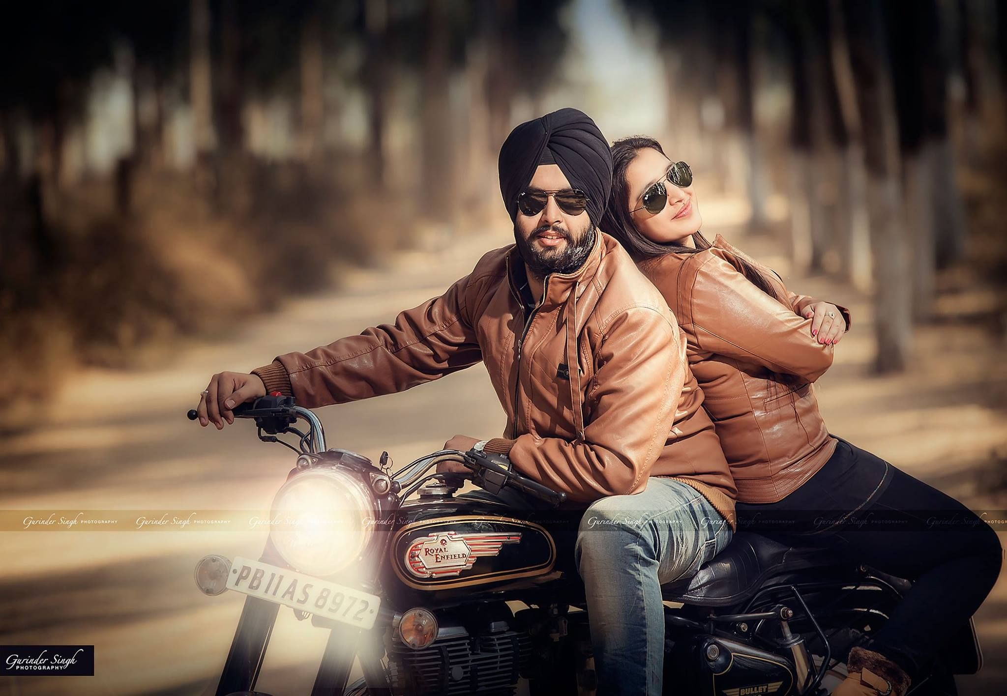 Bullet Bike Couple Amazing Punjabi Couple Pre Wedding India