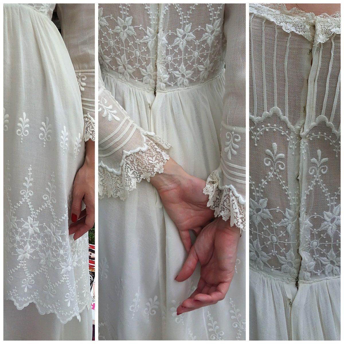 Vintage dressedwardian wedding dressantique dresslace dress
