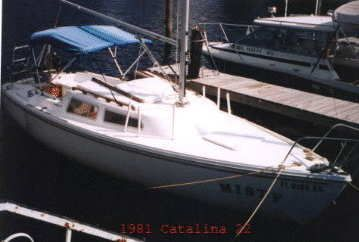 1981 Catalina 22 $2900 Pop Top, Swing Keel, 900 for trailer