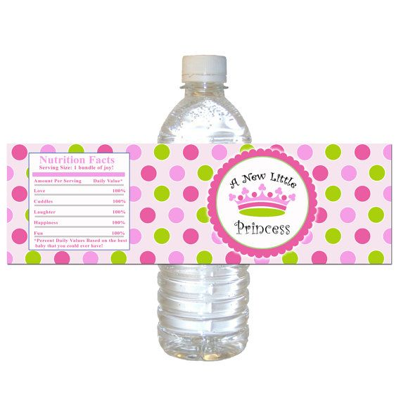 Princess Bottle Wrapper Princess Bottle Label Princess Baby Shower